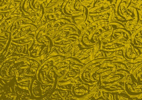 Abstract Golden Rough Metallic Texture - Background Illustration, Vector Graphic