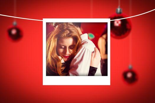Composite image of christmas photograph