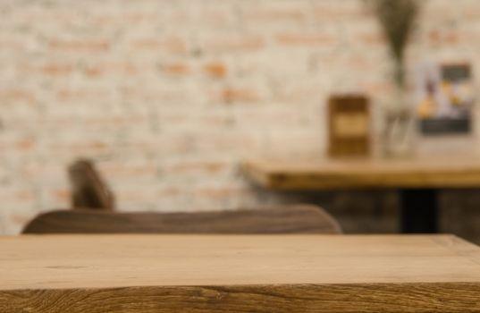 Empty areas on wooden floors and floors, restaurants or cafes ar