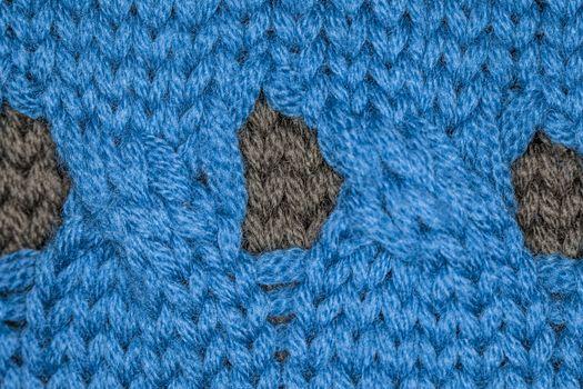 blue fabric macro