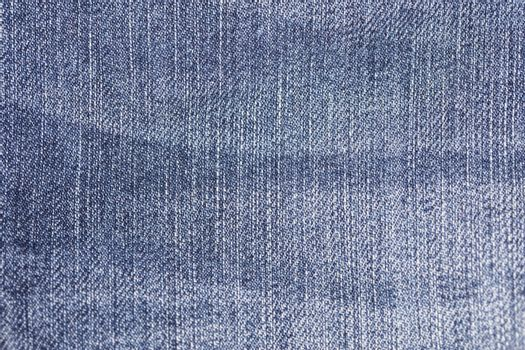 blue fabric with jeans, closeup on color transition