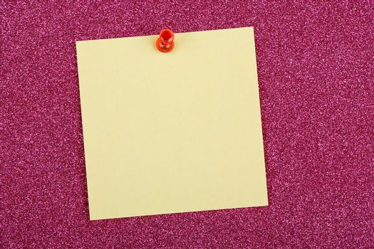 post it note on sparkling surface