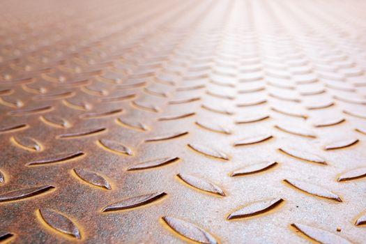 rusty diamond metal plate background