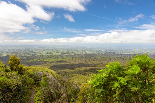 An image of a view from Mount Taranaki, New Zealand