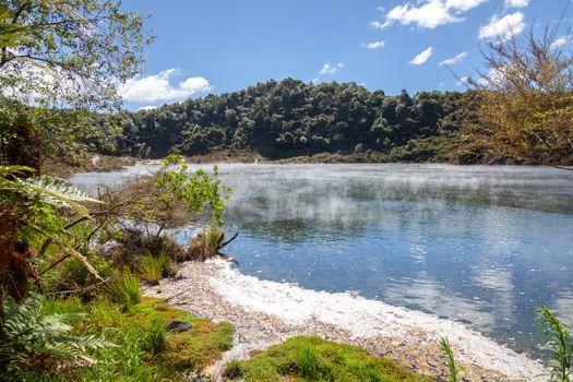 An image of a volcanic activities at waimangu new zealand