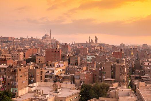 sunset scenery at Cairo Egypt