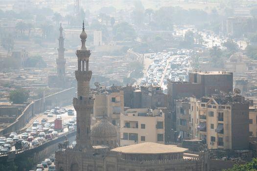 traffic scenery at Cairo Egypt