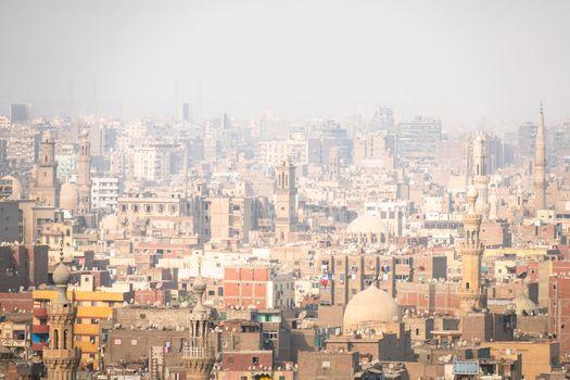 hazey scenery at Cairo Egypt