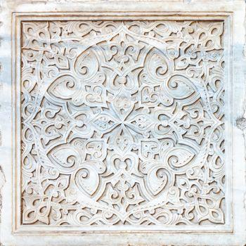 stone ornament in Cairo Egypt