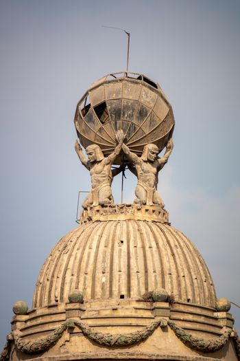 An image of four atlases at Cairo Egypt
