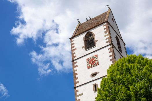 An image of the fortified church at Bergfelden south Germany