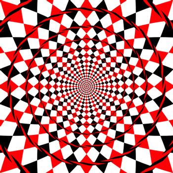 An illustration of an optical illusion fake spiral background