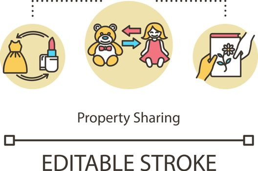 Property sharing concept icon
