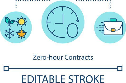 Zero hour contract concept icon