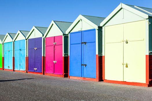 Colorful Brighton beach huts