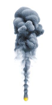 smoke isolated on white background 3D illustration