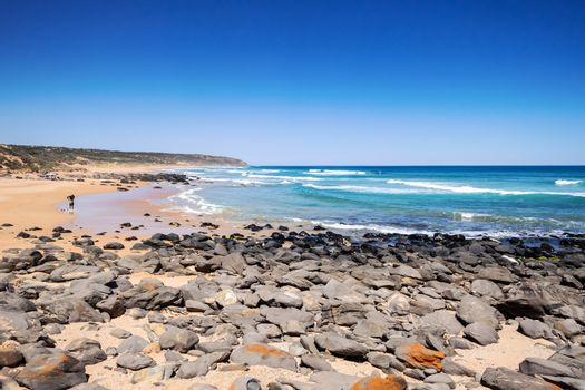 An image of a beach in south Australia near Victor Harbor