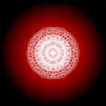 White mandala, bright circular ethnic pattern native indian ornament