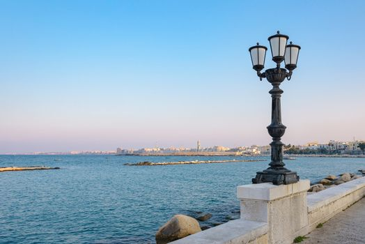 View of seafront in Bari