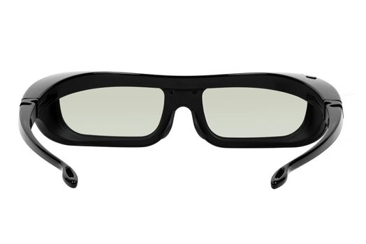3D glasses isolated on white background with clipping path