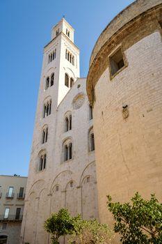 Belltower of Cathedral of San Sabino in Bari, Apulia, Italy
