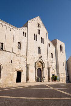 Facade of Basilica of Saint Nicholas in Bari, Apulia, Italy
