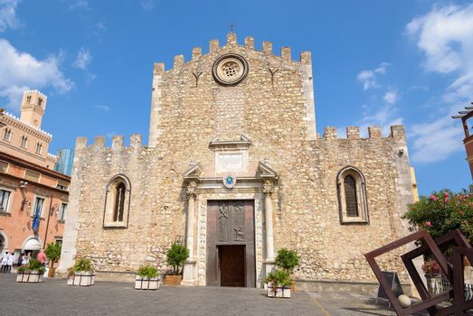 Cathedral of St. Nicholas of Bari in Taormina, Sicily, Italy