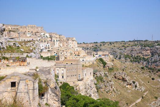 Sasso Caveoso district in the Sassi of Matera, Basilicata, Italy