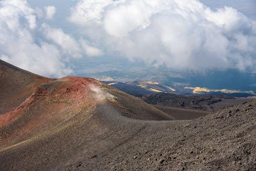 Beautiful landscape of Mount Etna, Sicily, Italy