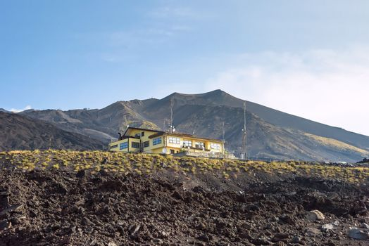 Building on the Mount Etna slope, Sicily, Italy
