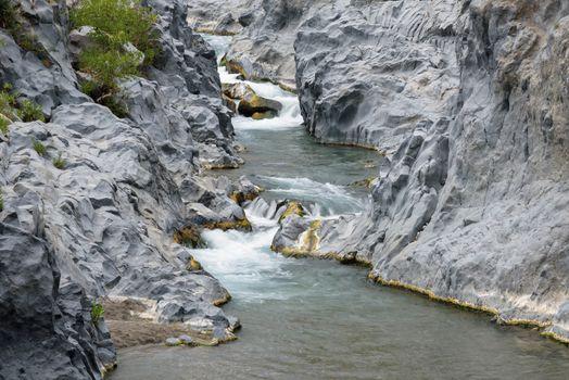 Gorge of the Alcantara river, Sicily, Italy
