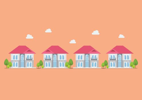 Housing development flat design icon