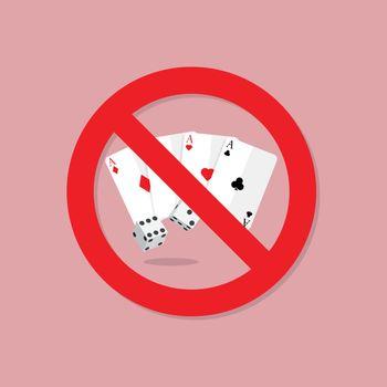 Gamble prohibition sign