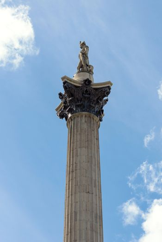 Nelsons Column at Trafalgar Square in London, UK