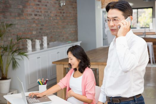 Man on a phone call