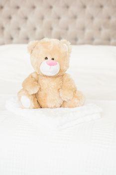 A soft teddy bear