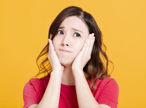 Portrait of an upset unsatisfied asian woman