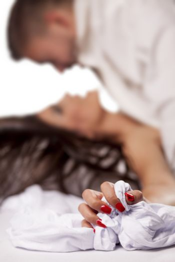 a young couple in a sexual position