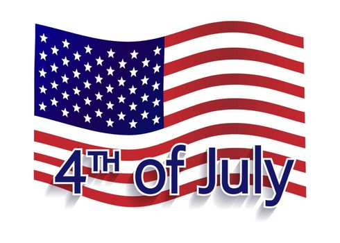 Happy 4th of July - Independence Day Vector Design - July Fourth.