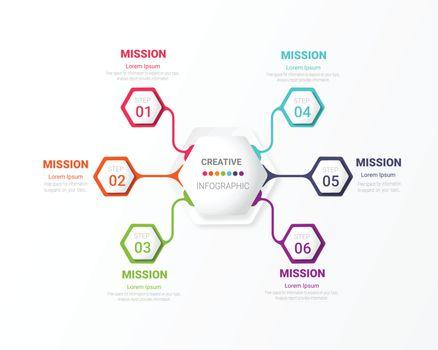 Circle infographics elements.
