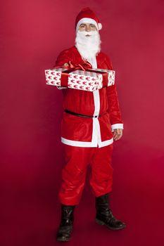 Santa Claus gives a beautiful gift