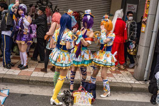 Nipponbashi Street Festa cosplay festival in Osaka, Japan