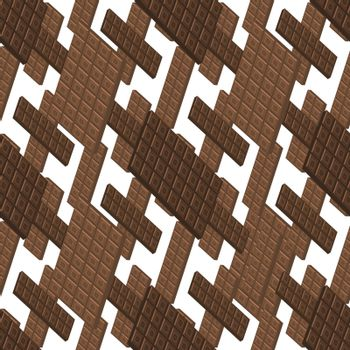 Milk Brown Chocolate Bar Seamless Pattern. Sweet Food. 3d Illustration.
