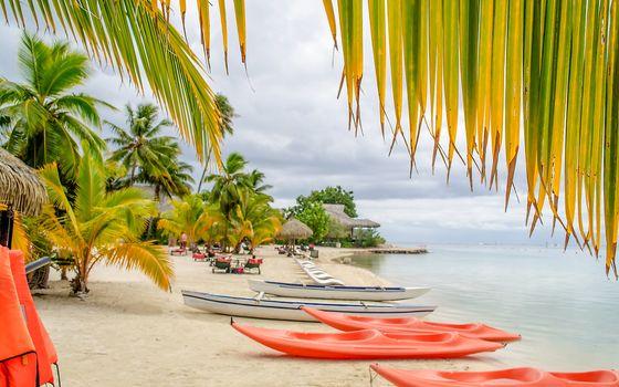 Tropical paradise beach in Moorea, French Polynesia