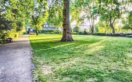 Garden in St. George's Square, Pimlico, London, UK