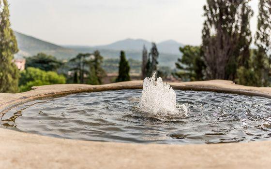 Fountain of the Bicchierone, iconic spot in Villa d'Este, Tivoli, Italy