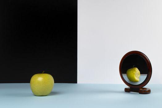 The apple bitten