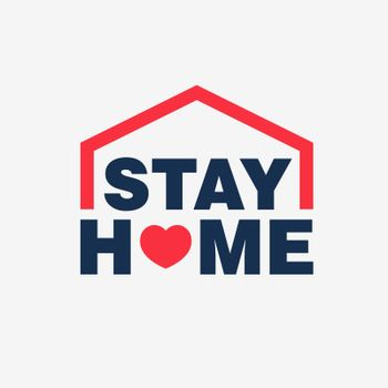 Stay home campaign logo concept vector design