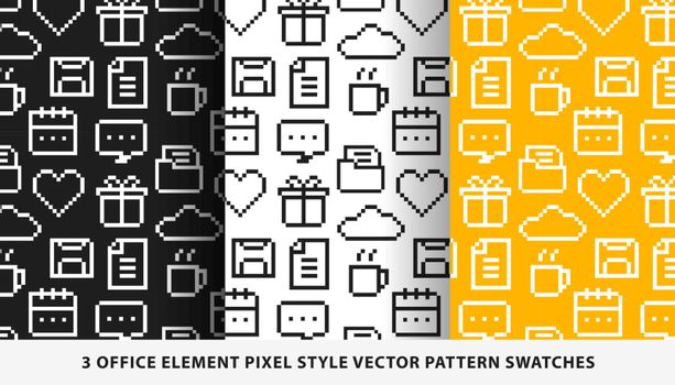 Office element pixel style vector pattern swatches