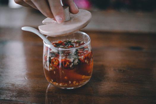 Thai spicy condiment